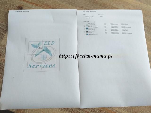 imprimer motif et caractéristiques de broderie machine