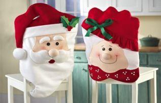 Couvre chaise père et mère Noël