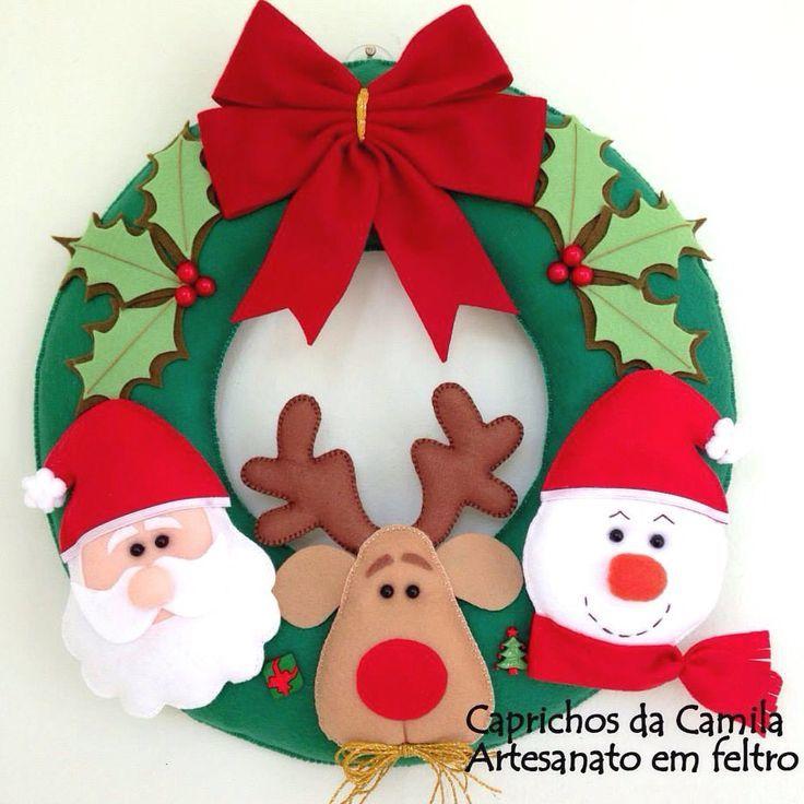 Coudre un couronne de Noël