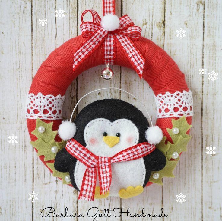 Coudre une courone de Noël en tissu