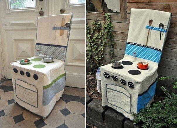chaise cuisinière en tissu