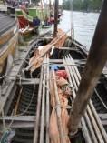 Le Brioc (Plouguerneau) reconstitution d'un curragh, bateau dessaints évangélistes irlandais au Xe siècle