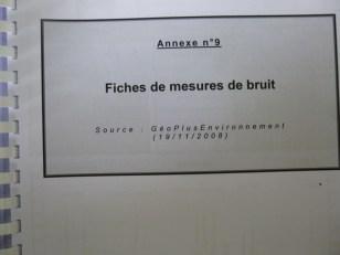 Couverture des fiches de mesure du bruit
