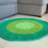 alfombra tejida en algodón