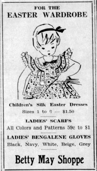Betty May Shoppe Easter clothes - Enquirer_Thu__Mar_11__1937_