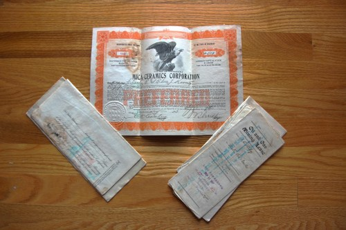 1920s stock certificates