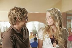 """""""Party Hardy"""" -- (L-R) Taylor Handley as Johnny Miller and Amber Heard as Greta in HIDDEN PALMS on The CW. Photo: Scott Humbert/The CW ©2006 The CW Network, LLC. All Rights Reserved"""
