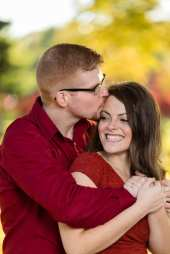 fall engagement photos red yellow