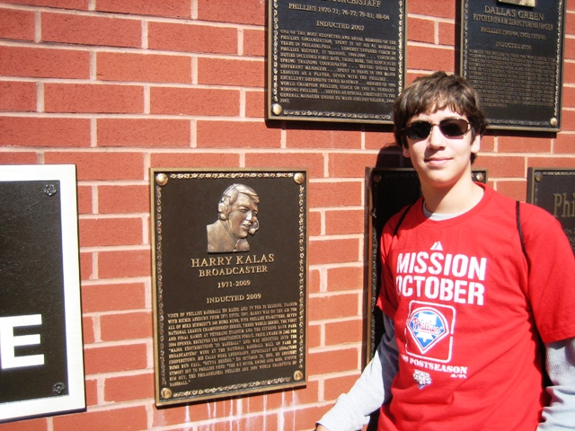 Adam at the Phillies Wall of Fame Oct. 09
