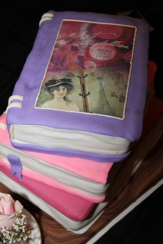 Book launch cake closeup