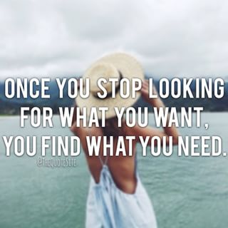 once you stop looking