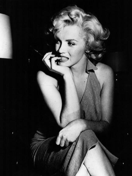 Marilyn biting nails