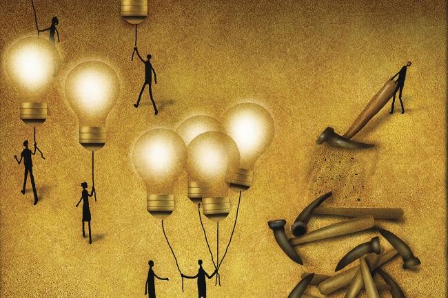 lightbulbs and hammers