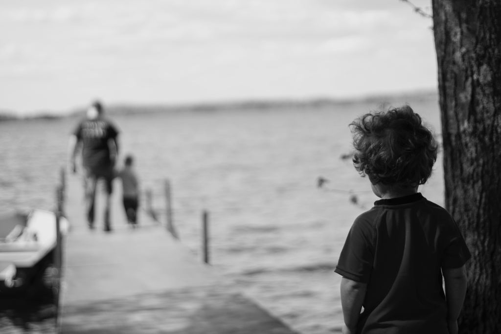 child alone on dock