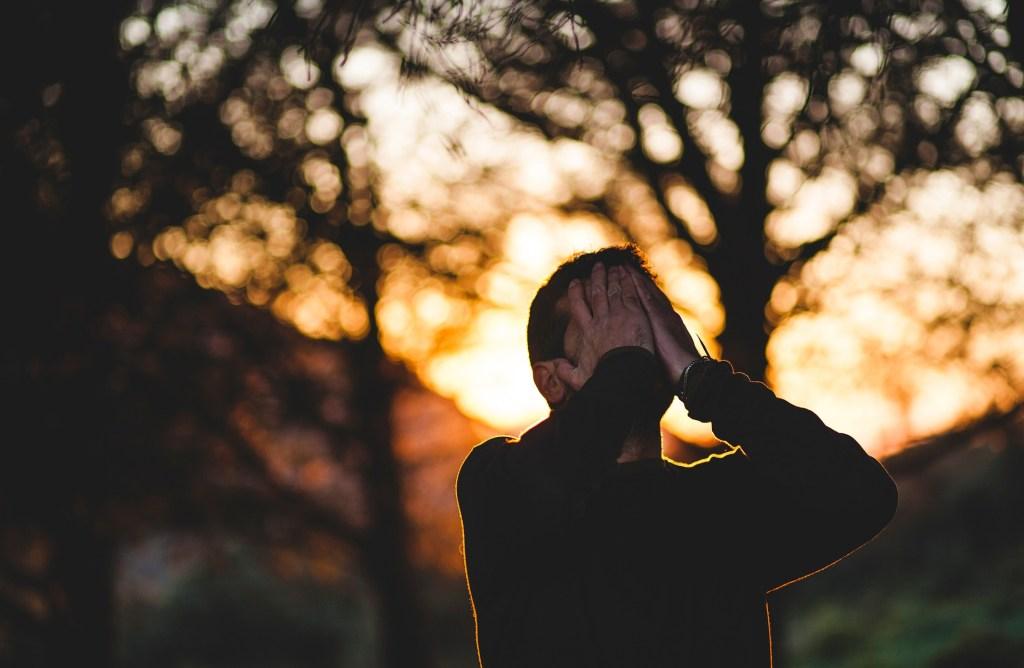 man devastated