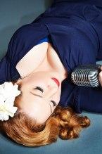Singer-Songwriter Brenda Layne with Gardenia in her hair