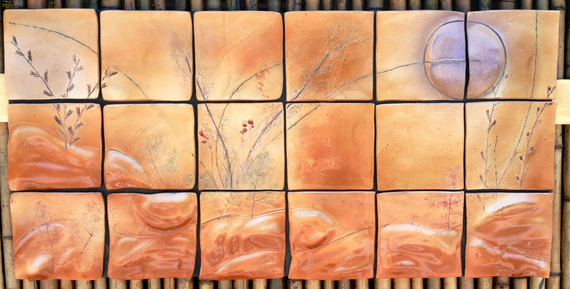 amethyst moonrise ceramic tile wall art