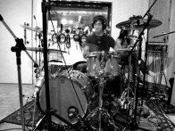 tracking da' drums at New Monkey studio...
