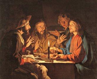 'Supper at Emmaus,' Matthias Stom. (17th century)