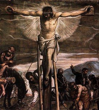 'Crucifixion,' detail, Jacopo Tintoretto. (1565)