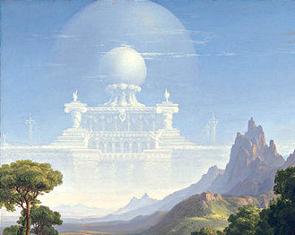 Thomas Cole's 'The Voyage of Life - Youth,' detail. (1840)