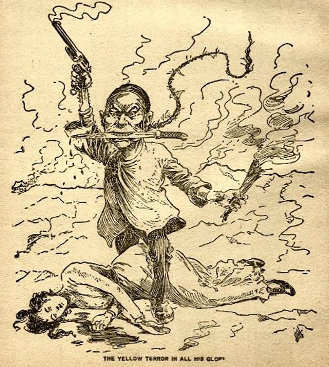 'The Yellow Terror in all His Glory.' Artist and publication not known. (ca. 1899)