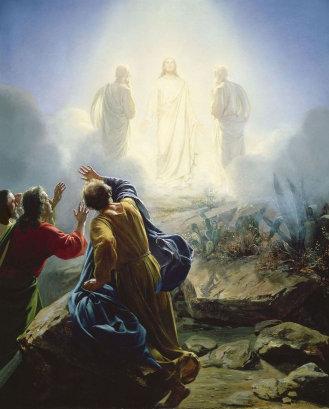 'Transfiguration of Jesus,' Carl Bloch. (1872)