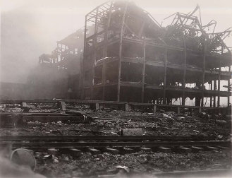 A five-story building after the 1947 Texas City Disaster.