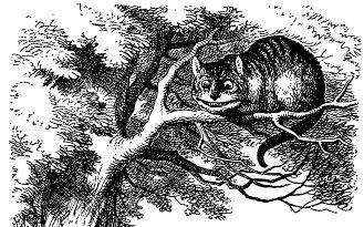 John Tenniel's Cheshire Cat illustration for Lewis Carroll's 'Alice's Adventures in Wonderland.' (1865)