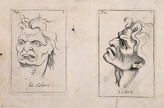 Étienne Picart's 'Faces Expressing Anger.' (1713)
