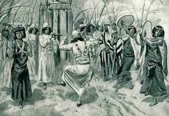 Tissot's 'David Danced Before the Lord with All His Might.' (c. 1896-1902)