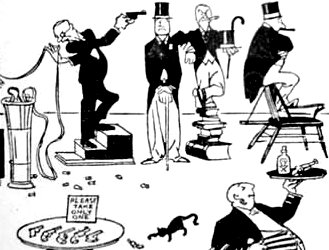Charles Forbell's 'Club Life in America: the Stockbrokers' Cartoon from Judge Magazine. (November 1929)
