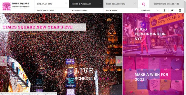 Times Square New Year's Eve. TIMES SQUARE | The Official Website
