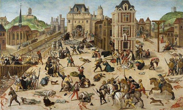 St. Bartholomew's Day massacre, as imagined by Huguenot François Dubois. (ca. 1572-1584)