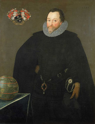 Marcus Gheeraerts the Younger's Sir Francis Drake portrait. (1591)