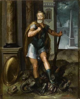 Dubreuil's Henry IV as Hercules slaying the Lernaean Hydra. (ca. 1600)