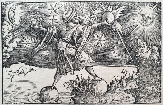A frontispiece for 'Historia Mundi Naturalis,' by Pliny the Elder, published Sigmund Feyerabend, Frankfurt am Main. (1582)