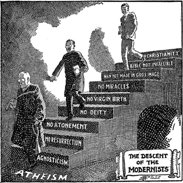 'The Descent of the Modernists,' E. J. Pace. (1922)