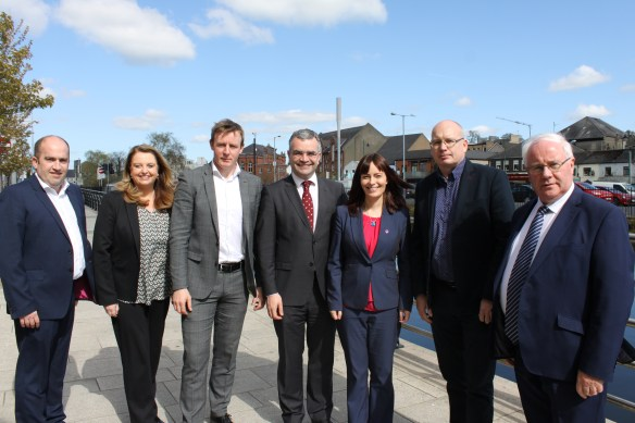 Brendan Smith TD with Dara Calleary TD and SDLP members in Newry