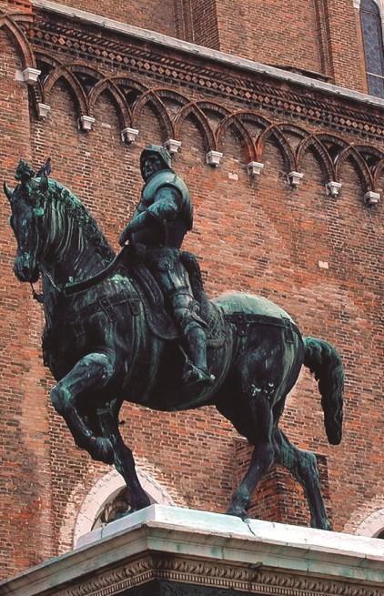 Estatua ecuestre de Bartolomeo Colleoni Verrocchio Venecia 1479-1488