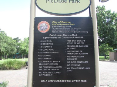 Rules for the Park