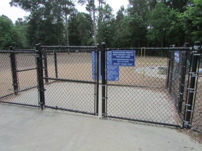 One entry area for large and small dog park