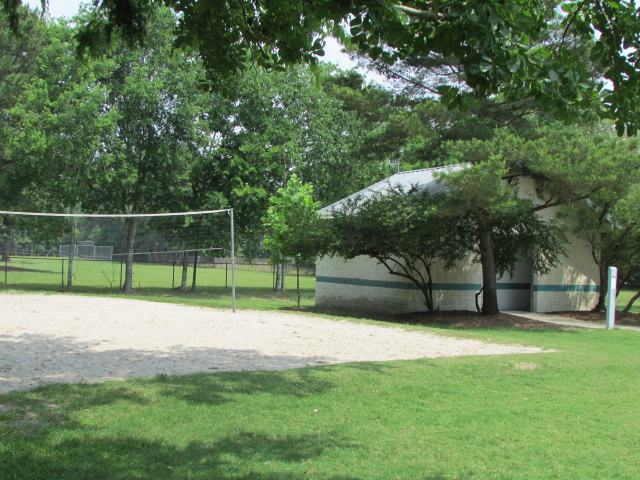 Volleyball Court and Restrooms