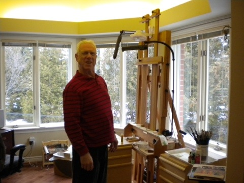 Bruce Stonehouse in his studio