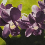 """Orchids"" Brenda Stonehouse 8"" x 10"" oil on canvas. Private collection."