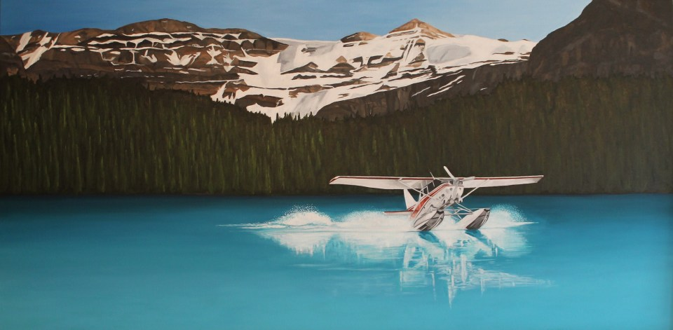 """""""Late Flare"""" Brenda Stonehouse 24' X 48"""" oil on canvas. Private collection."""