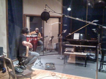"""Candid shot of the """"real"""" studio"""