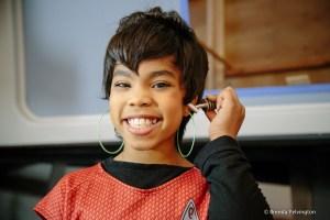 Uhura on set