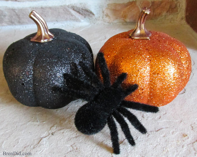 BrenDid Pottery Barn Inspired Glitter Pumpkin