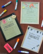 BrenDid I Am Thankful Dry Erase Board DIY and Printable for Kids